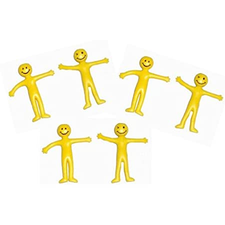 Happy Face Stretchy Men Pack of 6 Favours & Party Bag Fillers Home ...
