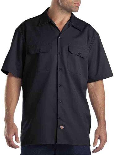 Dickies Herren Freizeithemd Work Shirt Short Sleeved, Schwarz (Black Bk), XXX-Large (Herstellergröße: 3XL)