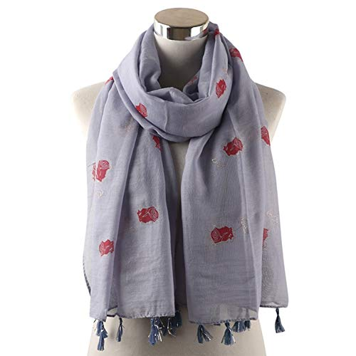 MYTJG Lady sjaal geel wit grijs glanzend sjaal vrouwelijk lange folie goud rood bloem kwast warp sjaal sjaal vrouwelijk