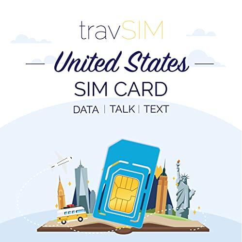 travSIM - AT&T USA SIM-Karte für 15 Tage - 22GB 3G 4G LTE Mobile Data mit unbegrenzten Anrufen & Texten - United States AT&T US SIM-Karte (funktioniert auch in Kanada & Mexiko)