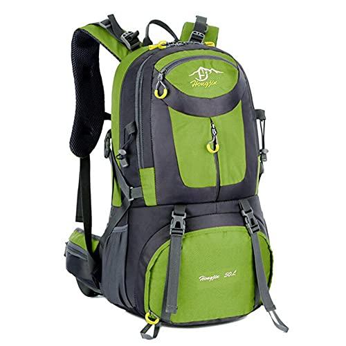 KDFJ Senderismo Mochila Impermeable Viaje Pesca Escalada Camping 50L Senderismo Daypack Trekking Bag Outdoor Adventure Sports-Verde_50 l