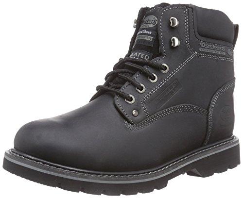 Dockers 23da104, Botas Militar Hombre, Negro (Schwarz 100), 43 EU
