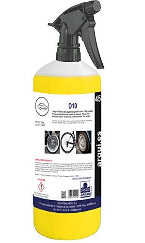 Arguipro Line D10 -Detergente per cerchioni, 1litro Pulisce i cerchioni in modo professionale, pH neutro. Elimina la sporcizia senza sforzi.