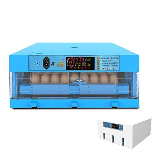 Inkubator Für Haushaltseier, Vollautomatische Brutmaschine Inkubator Hühner Mit LED-Licht Motorbrüter Hühne Brutapparat Eier Automatisch Wenden Für Geflügel Huhn Ente Wachtel