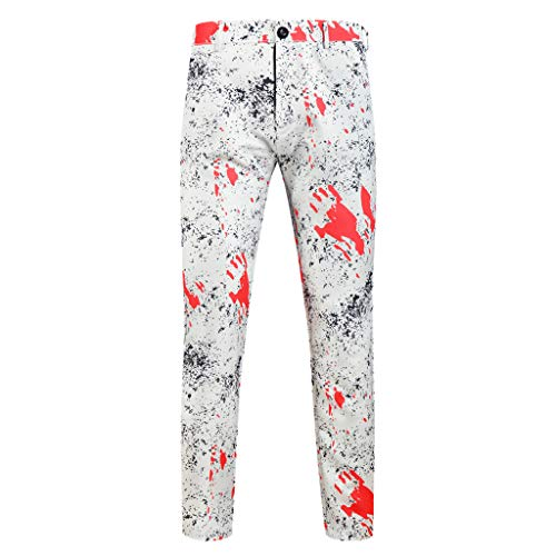 Find Bargain ZOMUSAR Men's Slim Fit Holiday Casual Pants Slim Fit Formal Equality Trousers Suit Pant...