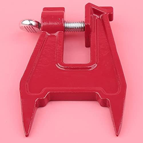 Herramienta de afilado de cadena de sierra de tornillo de banco de tocón, abrazadera de barra, accesorios de motosierra, soporte de cadena de sierra profesional, cadena de sierra (Color : China)