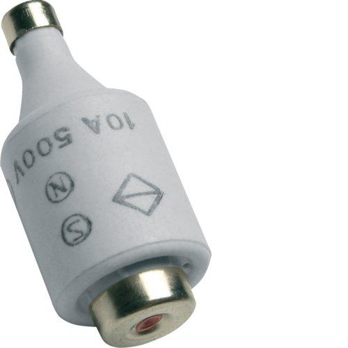 Hager LE2710 Sicherung DII 10A 500V gG m Kennmelder