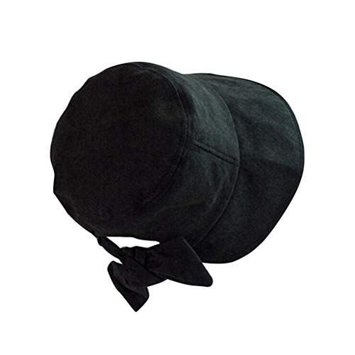 Why Should You Buy FENICAL Adult Suede Bucket Hat Pure Color Back Bowknot Sun Hat Outdoor UV Protect...