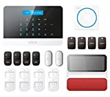 Wireless Home Security Smart Burglar Alarm Kit Pet Friendly DIY Kit No Wires Touch Panel Control From Free Smart App WiFi Interface