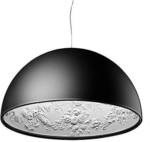 Moderne minimalistische Kronleuchter Lampenschirm Harz Skulptur Garten und Himmel Muster kreative Gestaltung Decke Esszimmer Kronleuchter Tisch im Keller Leben,Black