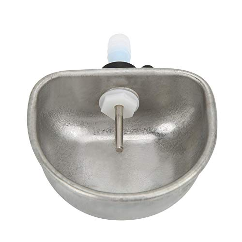 Pssopp 10 UNIDS Alimentador de Agua de Conejo Equipo de cría Pezón antiarañazos de Acero Inoxidable Bebedero Coop Copa Alimentador Tazón de Agua