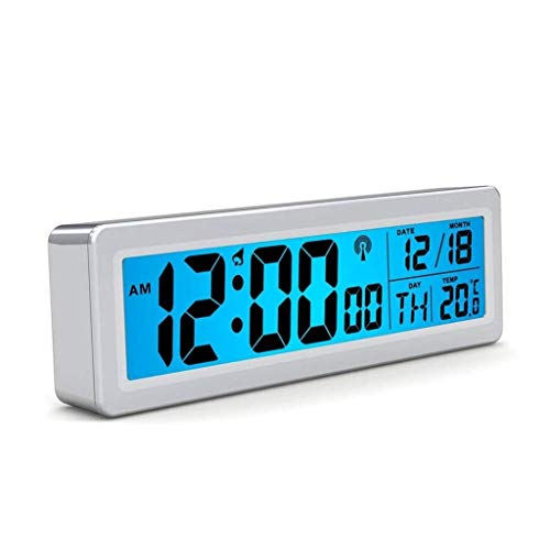 MJ-Alarm Clock Radio Wave Digital Reloj Despertador electrónico LED