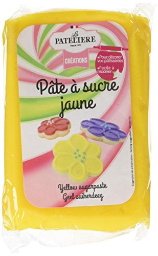 LA PATELIERE Pâte à Sucre Jaune sans Huile de Palme 250 g