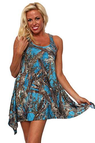 SHORE TRENDZ Women's Flare TrueTimber Camo Dress Nightgown.Blue.ONE Size
