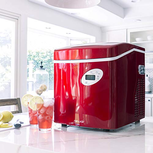 NewAir AI-215R Ice Maker, Red