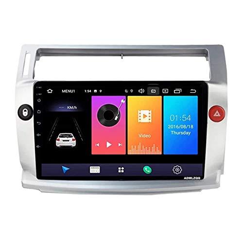 WY-CAR 9 Pulgadas Android 8.1 Auto Radio Reproductor Multimedia para Citroen C4 C-Triomphe C-Quatre 2004-2009, Navegación GPS/Bluetooth/FM/Control del Volante/Cámara Trasera,4 core-4G+WiFi: 1+16G