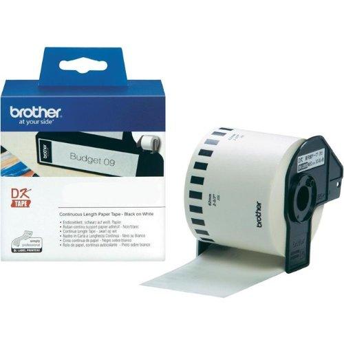 Endlosrolle 62mm P-Touch QL 700 Brother Etiketten 62 mm x 30, 48 meter, Papier, 1 Endlosetikett, DK Label für Ptouch QL700, QL-700