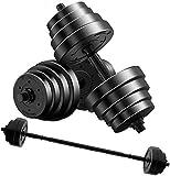 HHUPII Multifuncional 2-EN1 Dumbbell Barbell Set De 20 Kg Peso Ajustable Dumbbell Home Gym Gym Adjuntar Juego De Entrenamiento para Hombres Y Mujeres