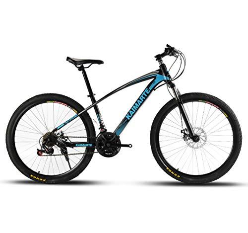 LYzpf MTB Mountainbike Fahrrad 26/24 Zoll 21/24/27 Geschwindigkeiten Legierung Stärkerer Scheibenbremse Stadler Bike Für Erwachsene Mann Frau Student,Blue,26inch-21S