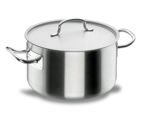 Lacor Chef-Classic 50037 - Cacerola alta con tapa, Acero Inoxidable 18/10, 36 cm