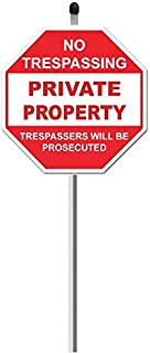 SecurePro Products 1 Private Property Sign on 36