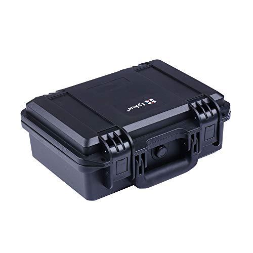 Lykus HC-3010 Estuche impermeable con espuma, Maletín para pistola, tamaño interior 30x20x12 cm, adecuada para pistola, dron pequeño, videocámara, cámara de acción y otros