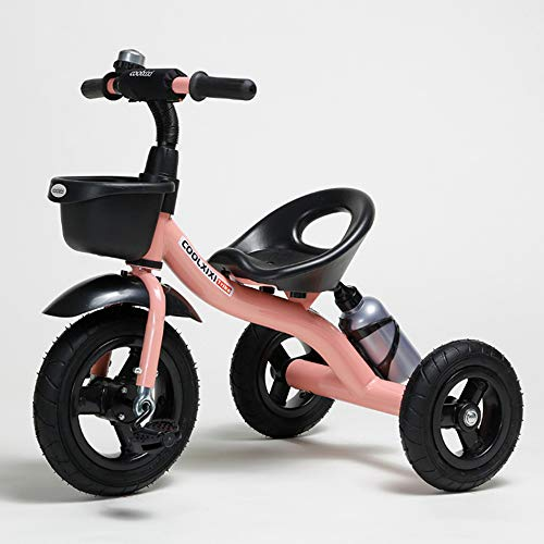 COOL-Series Kids Trike Toddlers Children Tricycle Stroller Trike 3 Wheel Pedal Bike Multicolor for 2 3 4 5 Years Old Boys Girls Indoor & Outdoor with Storage Bin and Cup Holder (Pink)