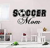Pegatinas de pared de PVC extraíbles calcomanías de pared de fútbol accesorios de mamá pegamento decoración de interiores pegatinas de pared en la sala de estar 24x59cm