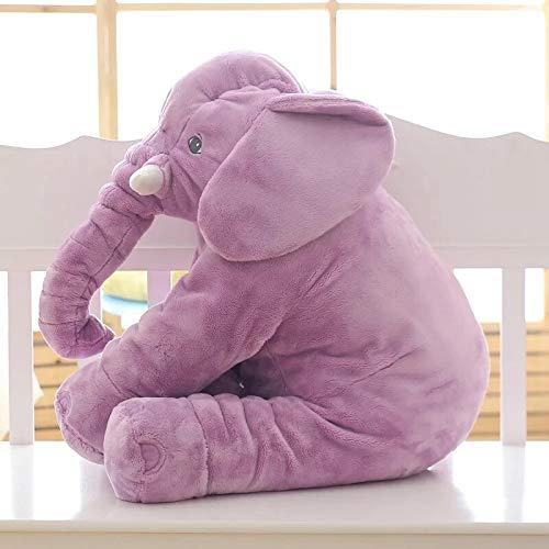 NMJHG 40cm Soft Elephant Pillow for Baby Sleeping Plush Toys Stuffed Animal Dolls Plush Giant Elephant Toys Infant Back Support Purple