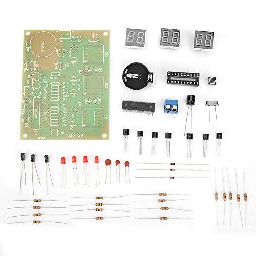 Les-Theresa 9-12V 6 Kit de reloj electrónico LED digital Juego de piezas de componentes de bricolaje