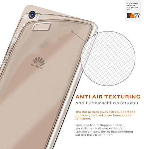 MoEx® Ultra-Clear Case [Vollständig Transparent] passend für Huawei P8 Max | rutschfest und extrem dünn - Fast unsichtbar, Klar - 4
