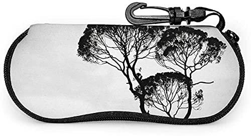 Negro y blanco árboles-negro y blanco palma suave lente caso para mujeres hombres