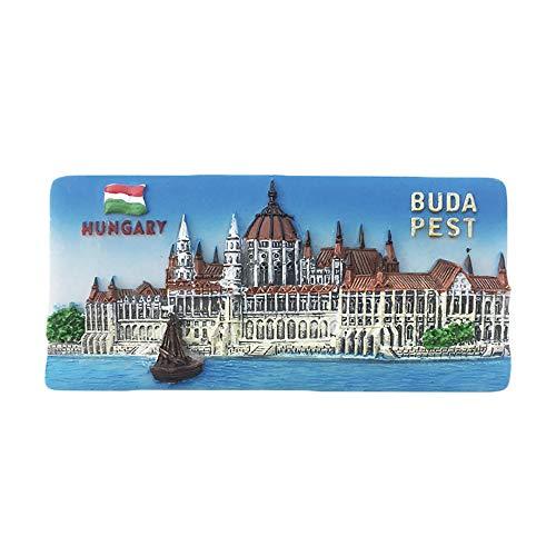 3D Budapest Hungría Imán para nevera regalo de recuerdo, hecho a mano para decoración del hogar y la cocina Budapest
