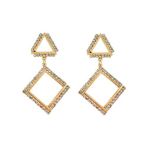 Oorbellen vrouwelijke Europese en Amerikaanse mode overdreven oorbellen met diamanten lange temperament wilde oorbellen tij