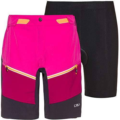 CMP Damen Free Bike Bermuda with Inner Mesh UW Fahrradshorts rosa 40