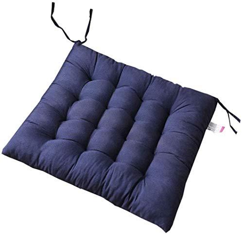 WHCQ - Cojines para sillas de comedor, silla de jardín, cojín de respaldo reclinable de varios estilos para silla de oficina y en casa, espuma suave, lavable, color azul