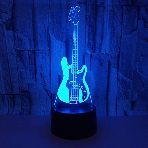 3D Lampe,Gitarre 3D Licht Acryl Visuelle Stereo 3D Tischlampen Für Wohnzimmer Deco Enfant Chambre Schreibtischlampe Touch Switch Lampen