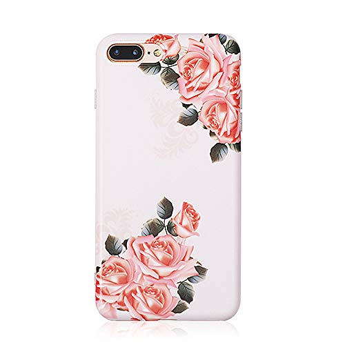 KNGYUTF mobiele telefoon box Rose Flowers voor iPhone XS MAX XR 6 6S 7 8 Plus X Vintage Floral Soft IMD Phone rugschaal geschenken Para iPhone 8 Regulable