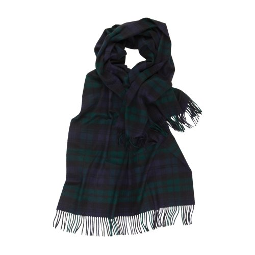 Johnstons of Elgin - Pure Cashmere Wrap (Black Watch)
