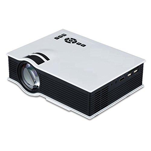 Projector, Syhonic Mini I2 Full HD 1080P HDMI Multimedia 800 Lumens Support HDMI/USB/AV/SD/IR Port Home Theater Cinema LCD LED Video Projector