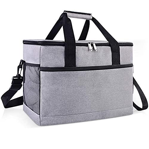 Cool Boxes para alimentos plegable Picnic Cooler Bag Large Gray 33 Litros Bolsa de almuerzo Senderismo Picnic