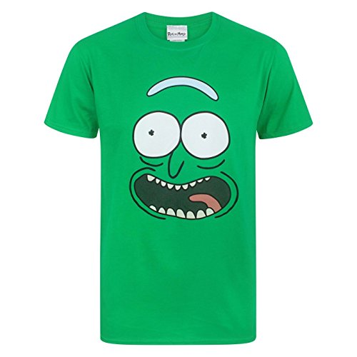 Rick and Morty Pickle Rick Face Men's T-Shirt (M)