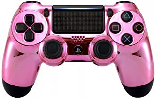 Chrome Pink PS4 PRO Rapid Fire Custom Modded Controller 40 Mods for All Major Shooter Games, Quick Scope Sniper Breath & More (CUH-ZCT2U) …