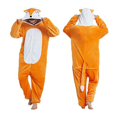 AdorabFitting Pijama para Mujer Diseo De Animales Ropa De Casa para Dormir De Una Pieza, Disfraz De Cosplay para Fiesta Naranja Zorro