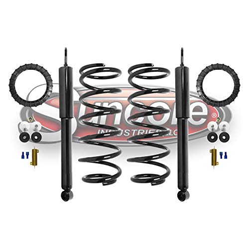 Rear Air Ride Suspension to Shock Absorbers & Coil Springs Conversion Kit Compatible with 2003-2009 Lexus GX470