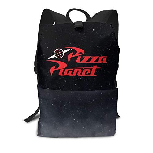 Homebe Mochila Unisex, Mochilas y Bolsas, Pizza Toy Story Planet School College Bookbag for Girls Boys Fashion Travel Back Pack