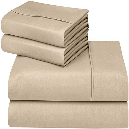 Gotcha Pure Collection American Leather Comfort Sleeper Organic Cotton Sateen Sheet Set - Queen Plus, Natural