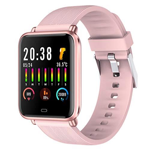 IP67 impermeable reloj inteligente salud seguimiento fitness seguimiento APP movimiento pista podómetro reloj paso contador