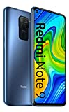 "Xiaomi Redmi Note 9 Smartphone- 4 GB + 128 GB, 6.53 ""FHD + DotDisplay, 48 MP Quad Camera Hotshot, 3.5mm Cuffie Jack, 5020 mAh NFC, Grigio (Midnight Grey)"