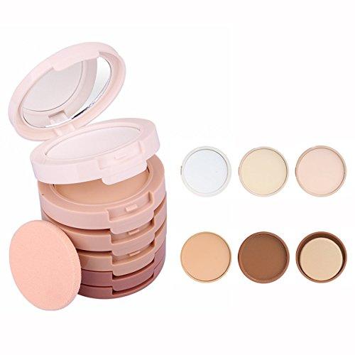 OFKPO 5 en 1 Paleta de Crema Corrector, Cara Polvos Prensados Corrector Camuflaje Paleta de Maquillaje Cosmética